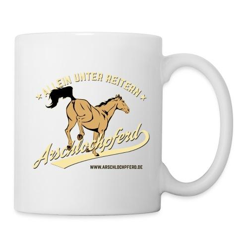 Arschlochpferd Tasse Weiß - Tasse