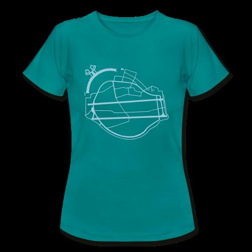 Tempelhofer Feld Berlin (silber) - Frauen T-Shirt