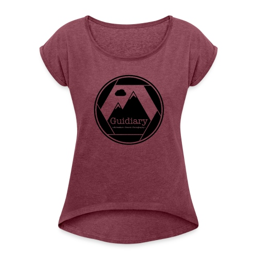 Guidiary Icon - Women's T-shirt with rolled up sleeves