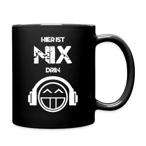 Die offizielle Friedrich Nix Tasse in schwarz - Hier ist Nix drin! - Tasse einfarbig