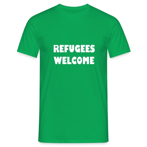 Refugees Welcome (hearts) - Männer T-Shirt