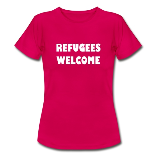 Refugees Welcome (hearts) - Frauen T-Shirt