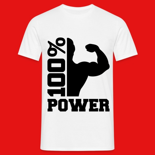 100%Power T-shirt (men) - Mannen T-shirt