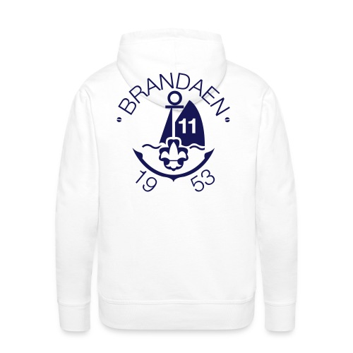Brandaen Mannensweater met capuchon - WIT - Mannen Premium hoodie
