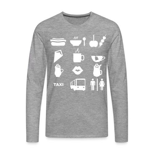 Weihnachtsmarkt Pullover - Männer Premium Langarmshirt