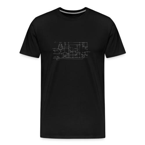 NE555 Internal Schematic - Maglietta Premium da uomo