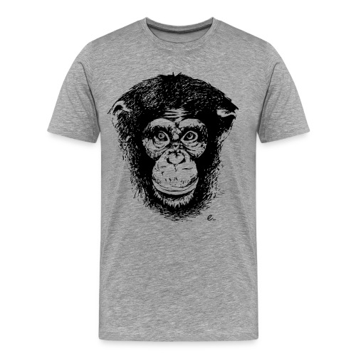T-Shirt Homme Tête de singe - T-shirt Premium Homme