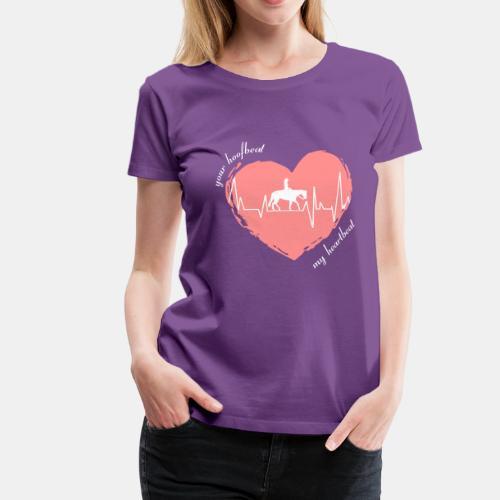 your hoofbeat my heartbeat Westernreiterin - Frauen Premium T-Shirt