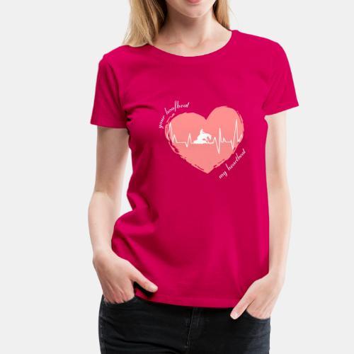 your hoofbeat my heartbeat Westernreiter - Frauen Premium T-Shirt