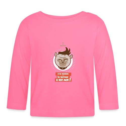 Tee shirt manches longues Bébé mini bulldog - T-shirt manches longues Bébé