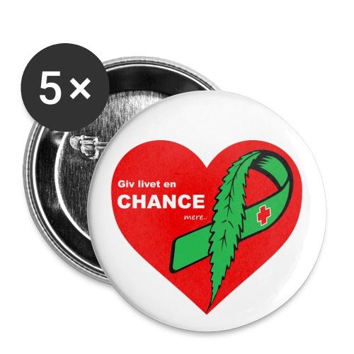 Giv Livet En Chance mere - Buttons/Badges stor, 56 mm (5-pack)