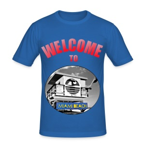 T-shirt Homme Welcome to Miami - Tee shirt près du corps Homme