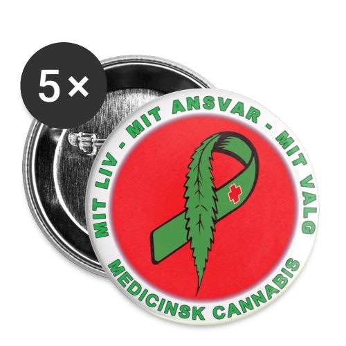 Mit Liv Mit Ansvar , Kampagne badge 32 mm. - Buttons/Badges mellemstor, 32 mm (5-pack)
