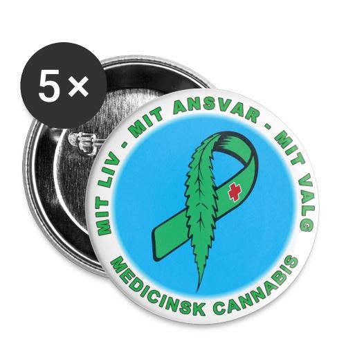 Mit Liv Mit Ansvar , Kampagne badge 56 mm.Blå - Buttons/Badges stor, 56 mm (5-pack)