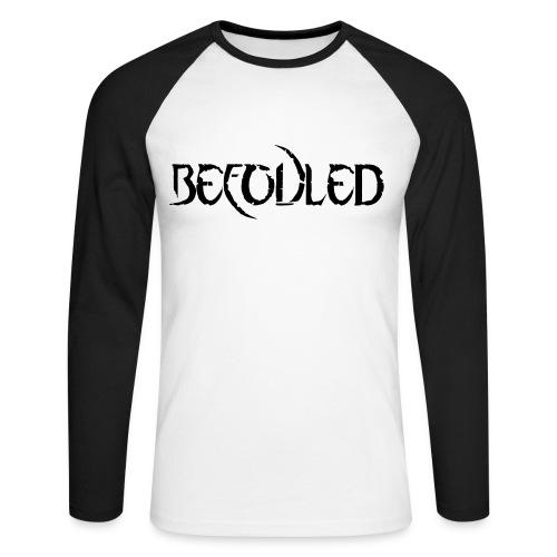 Befouled Half White Half Black Sleeve - Langermet baseball-skjorte for menn