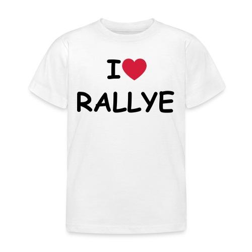 Tee Shirt   Enfant   i love rallye - T-shirt Enfant