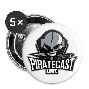 PirateCast Badges (Set Of 5) - Buttons large 56 mm