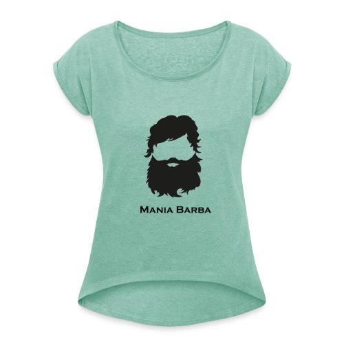 T-shirt Donna ManiaBarba - Maglietta da donna con risvolti