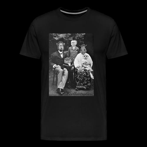 T-shirt Classic Zoo III - Mannen Premium T-shirt