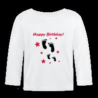 Happy Birthday Langarm-Shirt