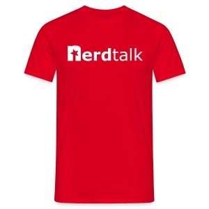 Männer T-Shirt - Schriftzug weiß - Männer T-Shirt