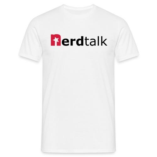 Männer T-Shirt, weiß - Schriftzug rot/schwarz - Männer T-Shirt
