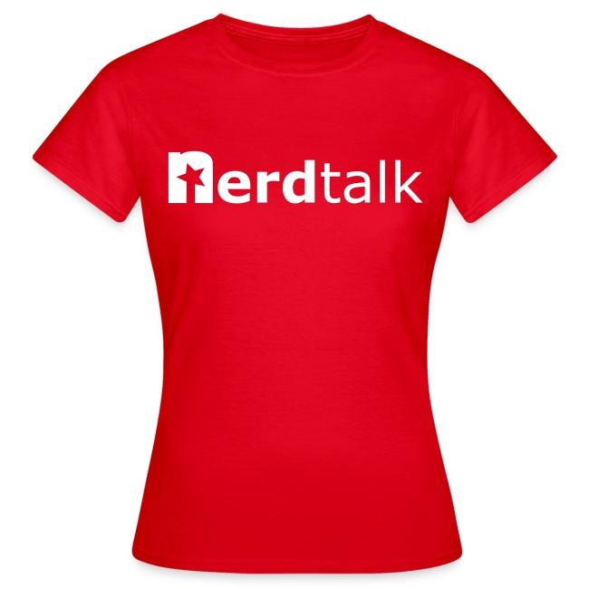 Frauen T-Shirt - Schriftzug weiß