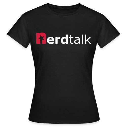 Frauen T-Shirt - Schriftzug rot/weiß - Frauen T-Shirt