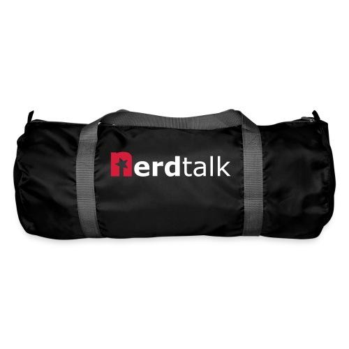 Sporttasche, schwarz - Schriftzug rot/weiß - Sporttasche