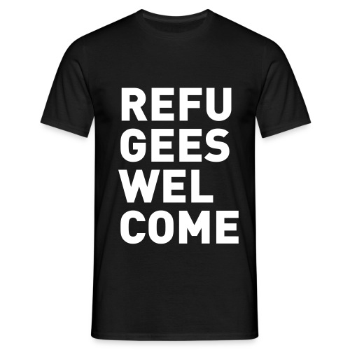 Refugees Welcome #1, Männer T-Shirt - Männer T-Shirt