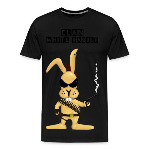 smoking gun rabbit  - Mannen Premium T-shirt