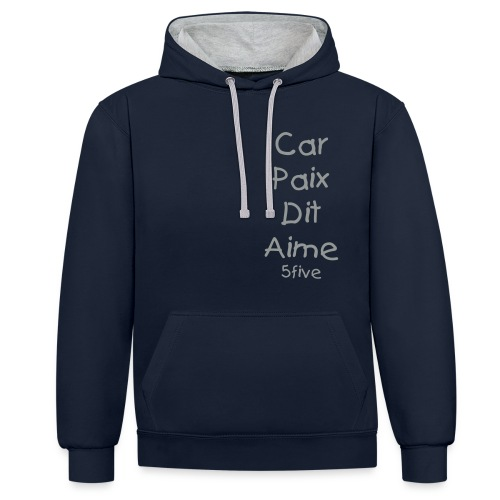 Car Paix Dit Aime - 5five - Sweat H - Sweat-shirt contraste
