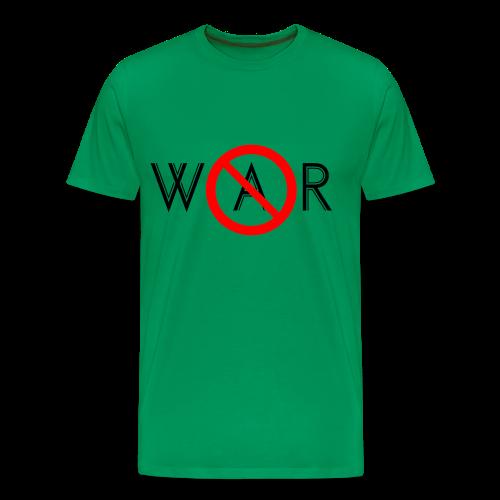 TIAN GREEN Shirt Men - No War - Männer Premium T-Shirt