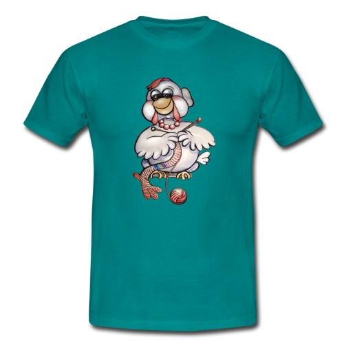Blindes Huhn (Oma) - Männer T-Shirt