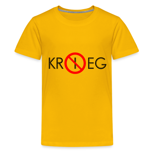 TIAN GREEN Shirt Teen - Kein Krieg - Teenager Premium T-Shirt