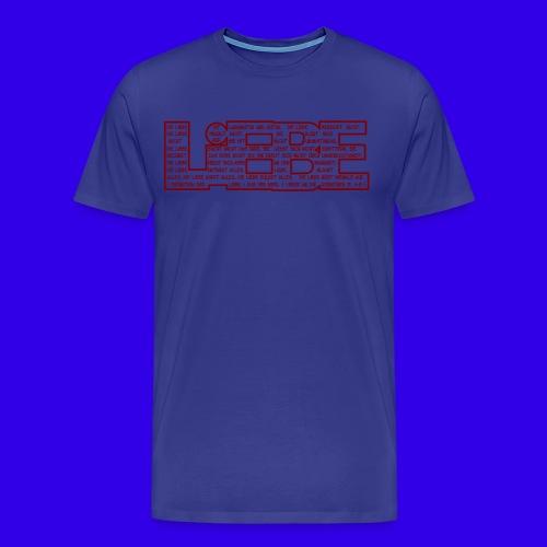 Korinther 13. 4-8 LIEBE - Männer Premium T-Shirt