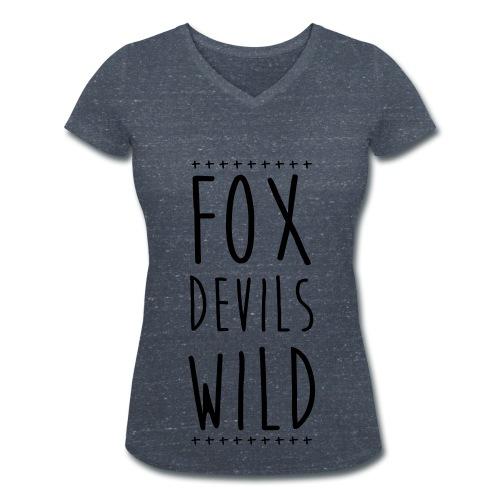 T-Shirt mit V-Ausschnitt | FoxDevilsWild - Frauen Bio-T-Shirt mit V-Ausschnitt von Stanley & Stella