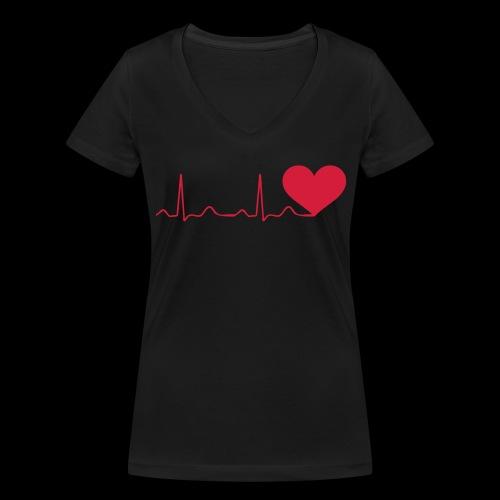 Battito del cuore (Maglietta da donna scollo a v) - T-shirt ecologica da donna con scollo a V di Stanley & Stella