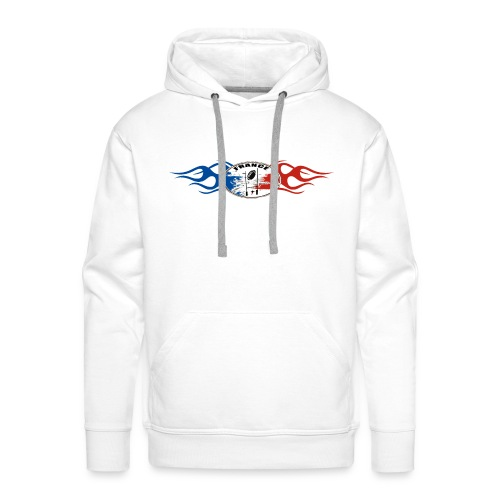 Rugby - France logo flaming tricolore - Sweat-shirt à capuche Premium pour hommes