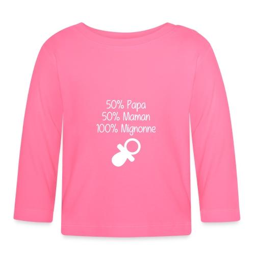 tee shirt 100% mignonne - T-shirt manches longues Bébé
