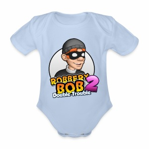 Robbery Bob: Double Trouble - Baby! - Organic Short-sleeved Baby Bodysuit