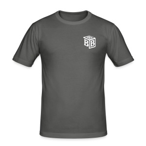 BBB shirt grey - Men's Slim Fit T-Shirt