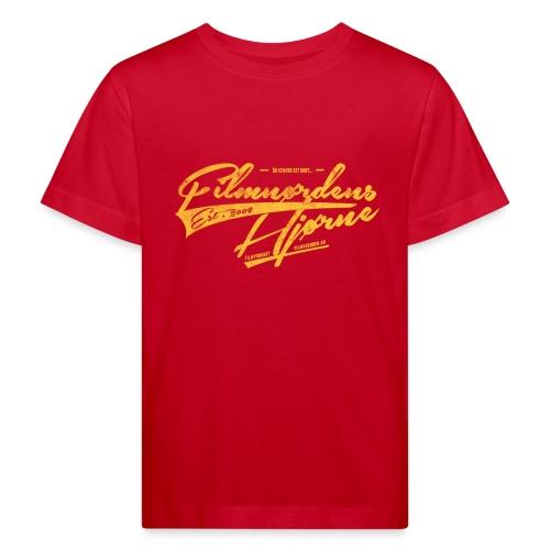 Retro gult logo t-shirt til børn (M/K) - Organic børne shirt