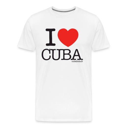 Tee-Shirt I love Cuba adulte - T-shirt Premium Homme