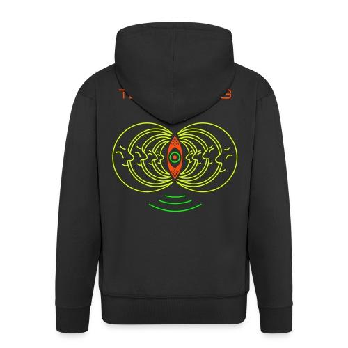 047 Terramoog Jacket Logo + Name - Men's Premium Hooded Jacket