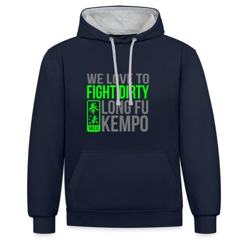 FIGHT DIRTY 2 HOODY - Contrast hoodie
