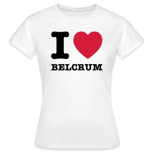 I Love Belcrum (dames) - Vrouwen T-shirt