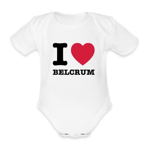 I love Belcrum (baby) - Baby bio-rompertje met korte mouwen