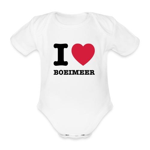I love Boeimeer (baby) - Baby bio-rompertje met korte mouwen