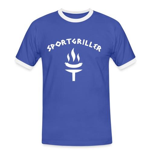 T-Shirt - Sportgriller - Männer Kontrast-T-Shirt